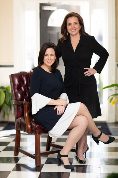 Lawyers Kyla Sipprell and Holly M. Groce of Clemmons Family Law in North Carolina