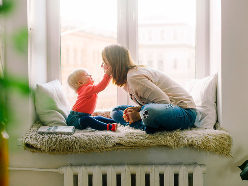 Mother and child sharing a loving moment together at home. Photo by Daria Shevtsova from Pexels