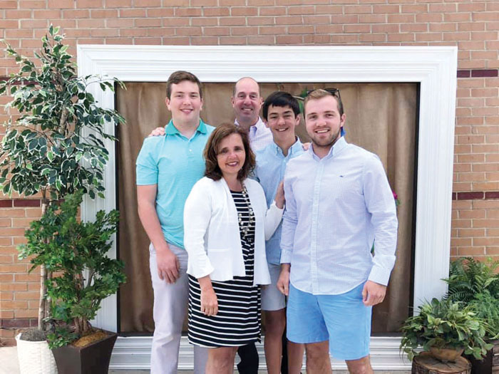 The Groce family portrait — front row, from left, Holly and Connor. Back row, Carson, Michael and Colby
